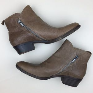 Lucky Brand Bryton Leather Zip Ankle Booties 9.5